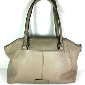 Tignanello Large Beige Leather Satchel Satchel